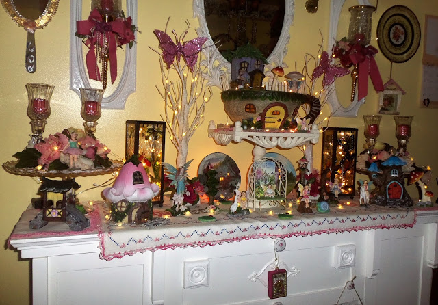 "Fairy Garden on a ""Mantle' in the Sitting Room, 2018"