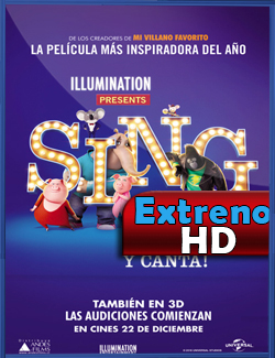 Sing: ¡Ven y canta! (2016) | 3gp/Mp4/DVDRip Latino HD Mega