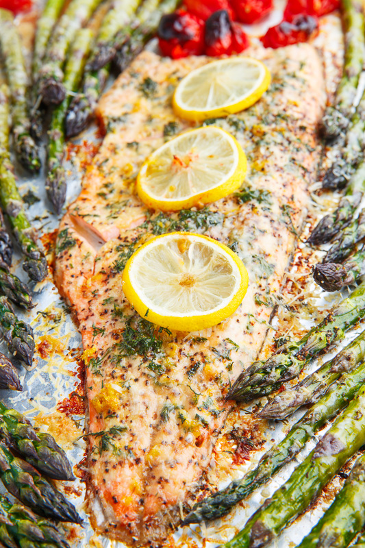 Lemon Pepper Parmesan Roast Trout Recipe