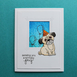 Sending you a birthday pug by Daria features Pug Hugs by Newton's Nook Designs; #newtonsnook