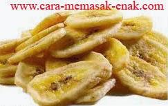resep praktis dan mudah membuat (menggoreng) makanan ringan keripik pisang manis renyah, enak, lezat spesial