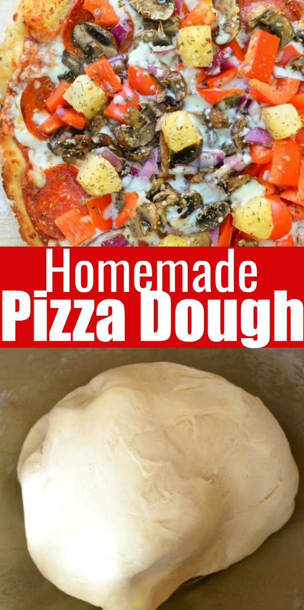 The BEST Homemade Pizza Dough Recipe from Serena Bakes Simply From Scratch.