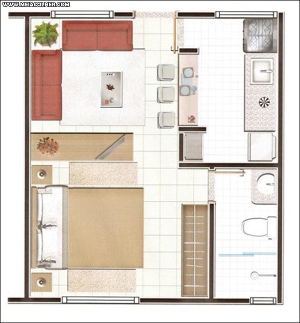 Casa de 1 quarto e 1 banheiro
