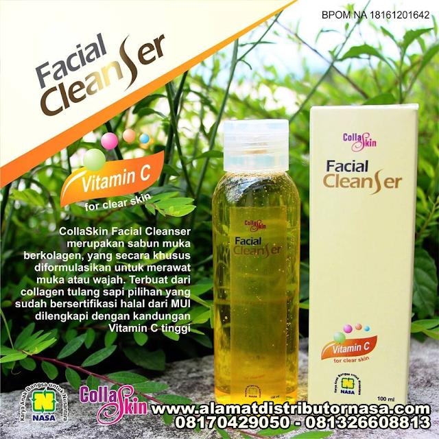 Collaskin Facial Cleanser - Sabun Muka Mengandung Collagen Untuk Merawat Wajah Cantik Anda