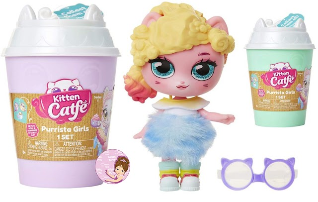 Coffee Cups with Kitten Catfé Purrista Girls Doll Surprises and Tiny Cats
