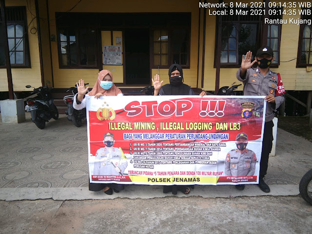 Personel Polsek Jenamas Sosialisasi Pencegahan Ilegal Mining dan Larangan Penggunaan Merkuri