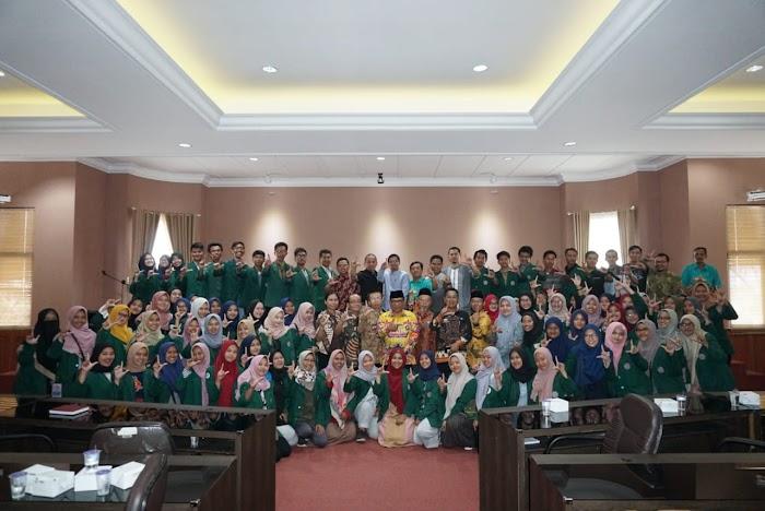 79 Mahasiswa FEB UHAMKA Temu Pamit Dengan Pemkab Lampung Selatan.