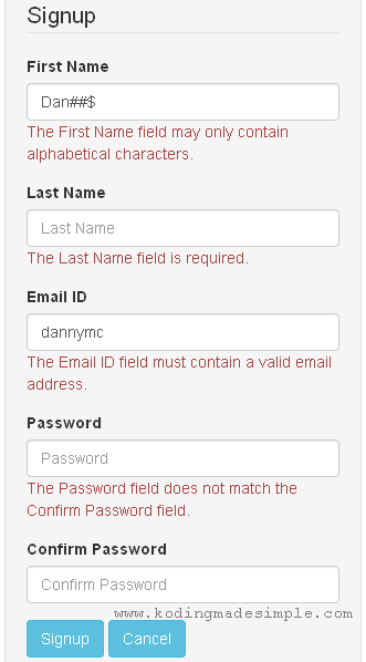 codeigniter-signup-form-validation-error