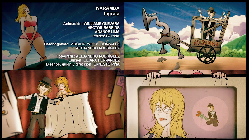 KARAMBA - ¨Ingrata¨ - Videoclip / Dibujo Animado - Director: Ernesto Piña. Portal Del Vídeo Clip Cubano