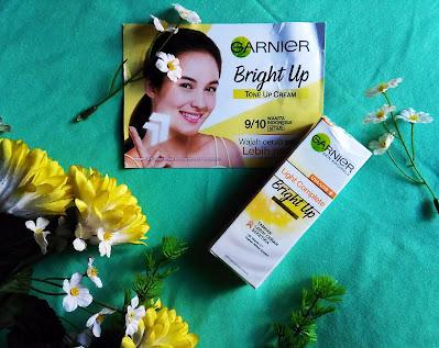 review garnier tone up cream