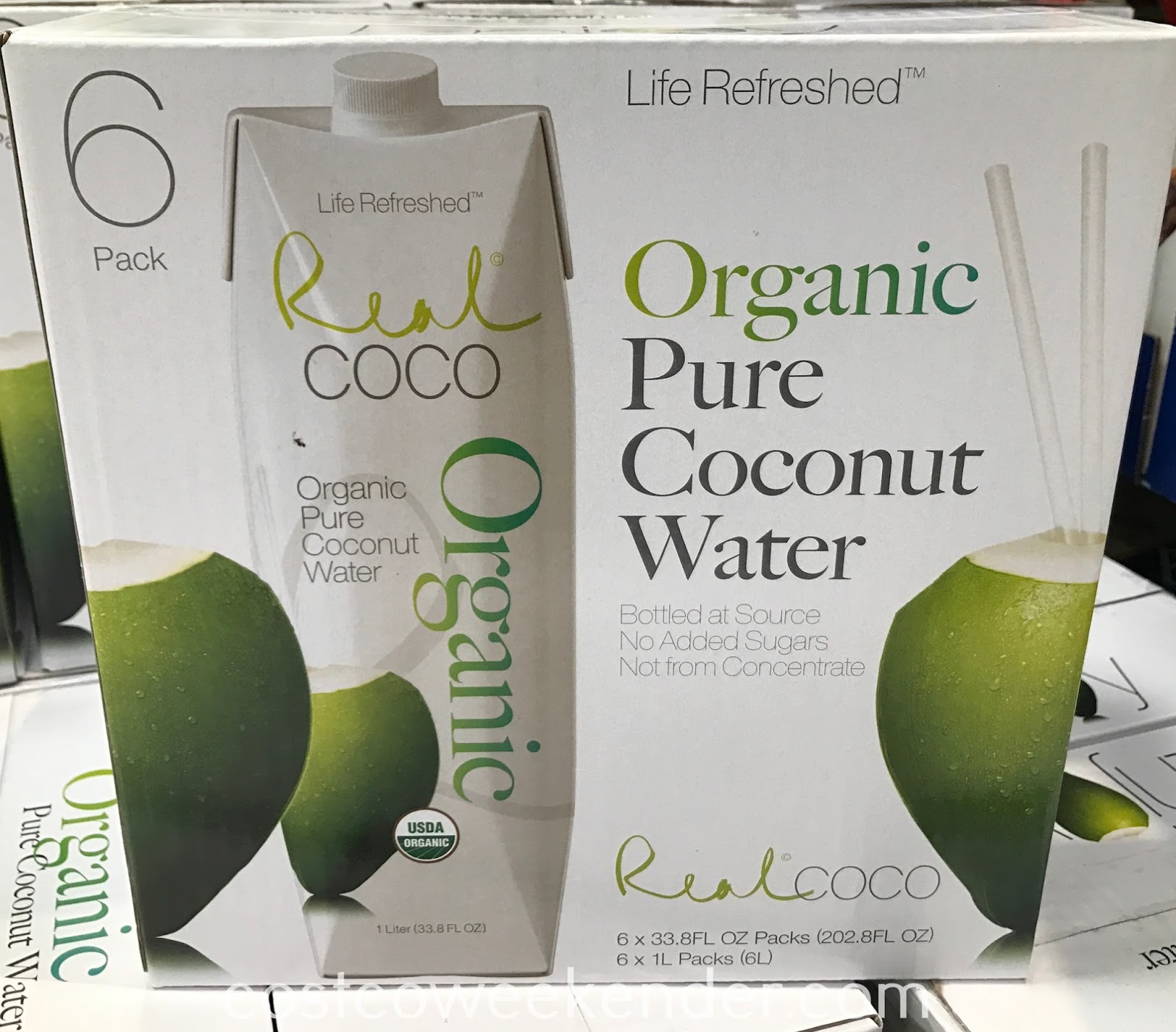 Quench your thirst with Real Coco Organic Pure Coconut Water