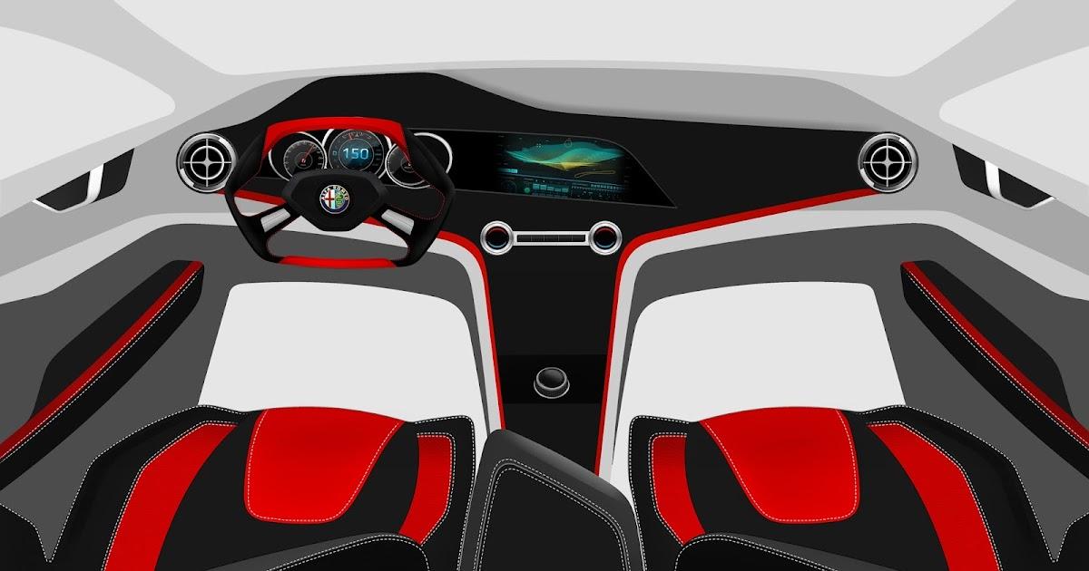 Ratandesignz Alfa Romeo Stile Concept Interior Design Sketch