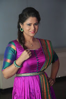 Shilpa Chakravarthy in Purple tight Ethnic Dress ~  Exclusive Celebrities Galleries 008.JPG