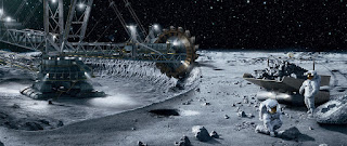 manusia akan menambang di bulan