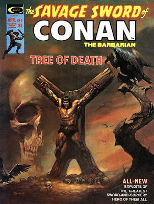 Marvel Comics, Savage Sword of Conan #5, Conan crucified, Boris Vallejo cover