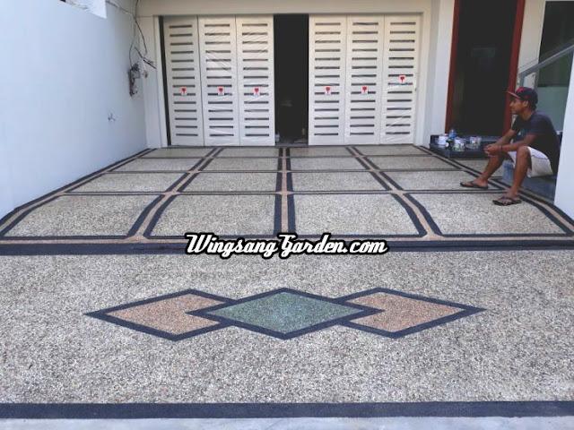 Jasa Tukang Batu Sikat Mojokerto - Jasa Pembuatan Lantai Garasi Carport Mojokerto