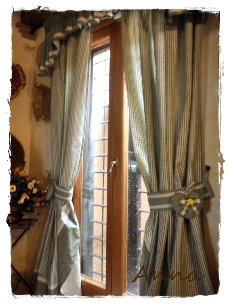 Lecosemeravigliose shabby e country chic passions country for Tende per cucina country