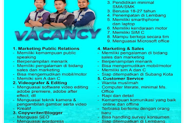 Lowongan Kerja Staff Developer Syariah Aulia Java Land