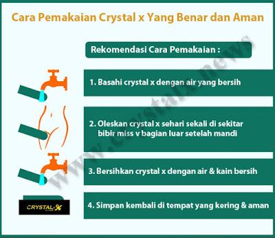 Cara pemakaian crystal x dioleskan