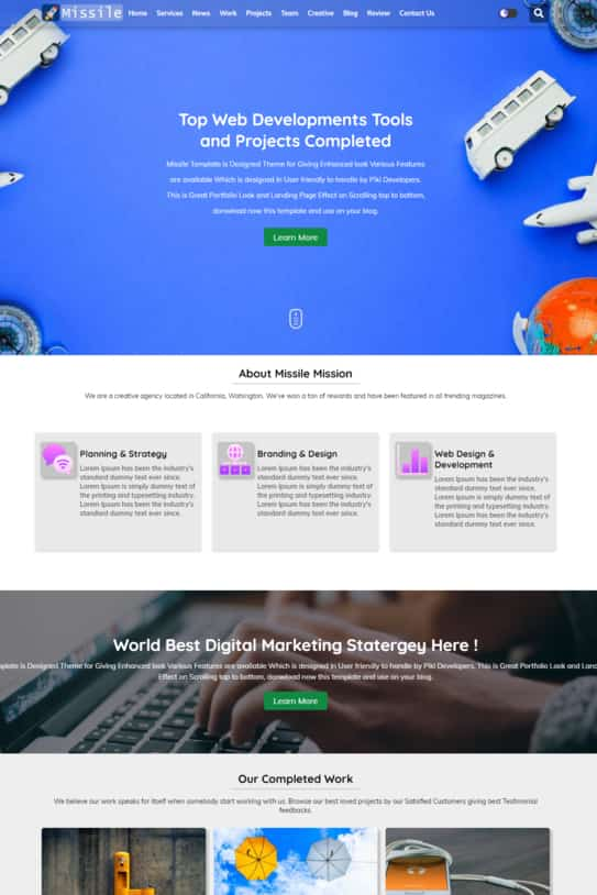 Missile blogger template