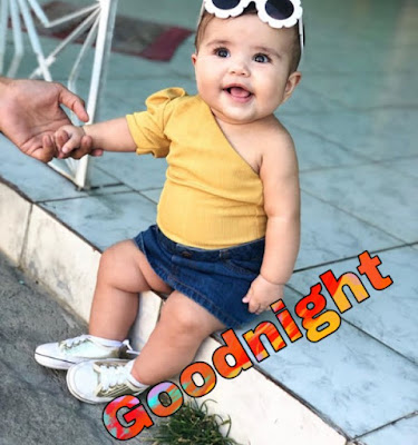 cute baby good night image pics pictures Share on facebook and whatsapp