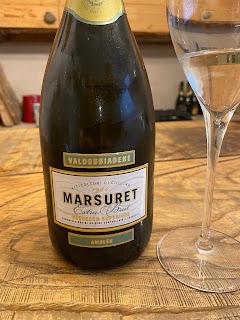 Marsuret bottle and glass.