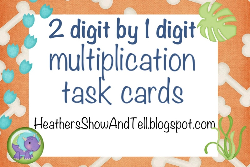 Heather 39 S Show And Tell Multiplication Task Cards 2