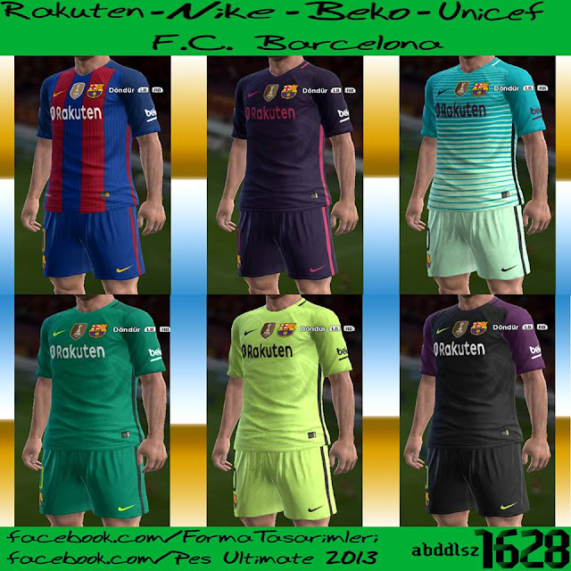 F.C. BARCELONA 2016-17 KIT (New Sponsor)