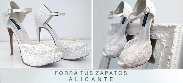 forrado de zapatos para novia | forrado de zapatos alicante y toda