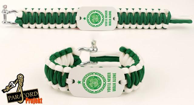 Bransoletka z paracordu z logo Klubu sportowego Celtic