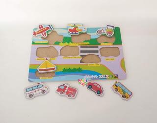 Puzzle Transportasi New Mainan Kayuku Agdiatoys