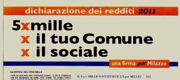 Milazzoggi Milazzo Il 5 Per Mille Per I Servizi Sociali