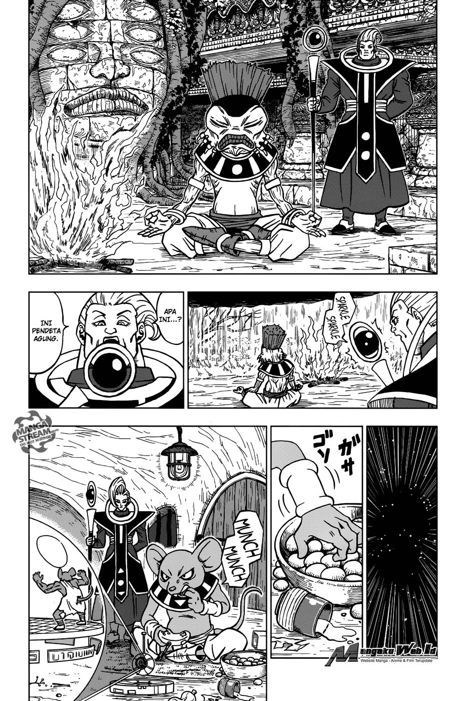 Dragon Ball Super Chapter 28 : Ke 12 Dewa Penghancur Alam Semesta