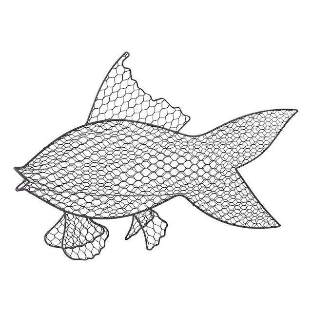 Wire Fish Wall Decor