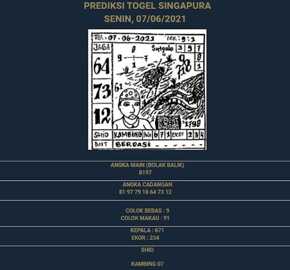 2 - PREDIKSI SINGAPURE 07JUNI 2021