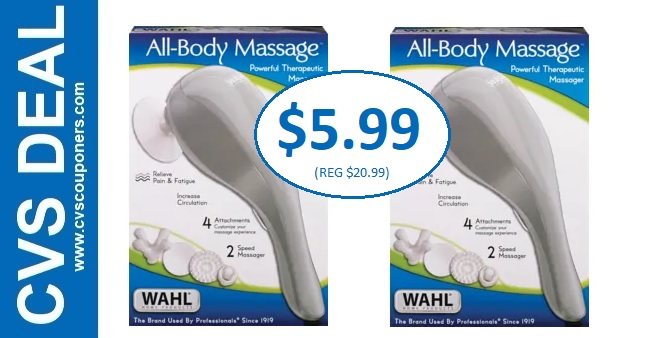 Wahl All-Body Massager CVS Deal $5.99 - 8/4-8/10
