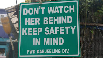 Dont watch her behind safety in mind