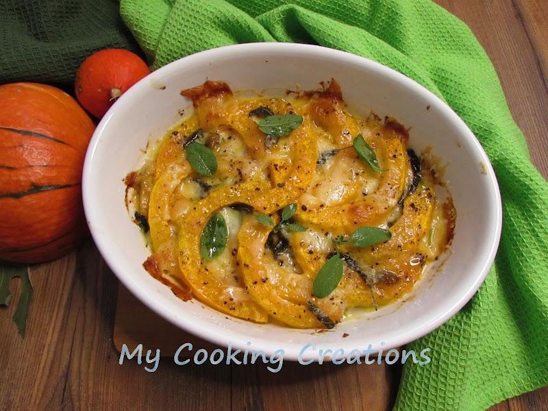 Тиква на фурна с моцарела * Zucca al forno con mozzarella