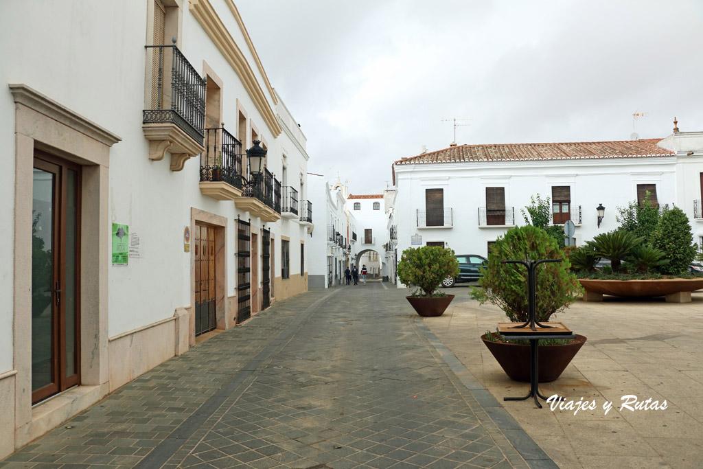 Plaza de santa María de Olivenza