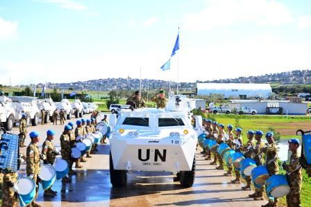 Kunjungan Kerja Asops Panglima TNI dan Asops Kasad  Ke Markas Indobatt XXIII-J/UNIFIL