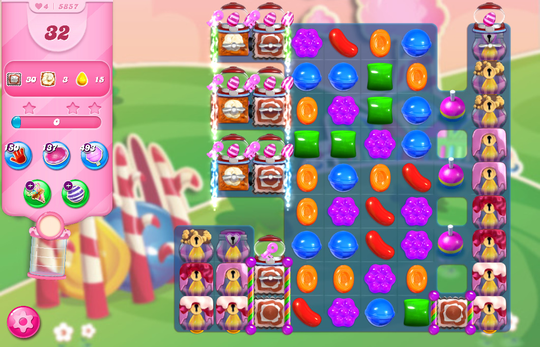 Candy Crush Saga level 5857