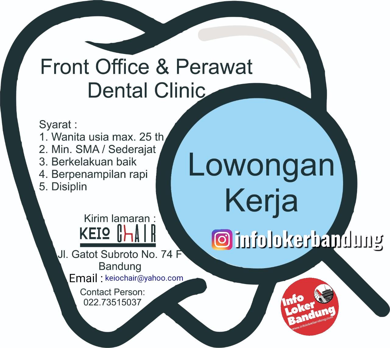 Lowongan Kerja Front Office & Perawat Dental Clinic Keio Chair Bandung September 2019