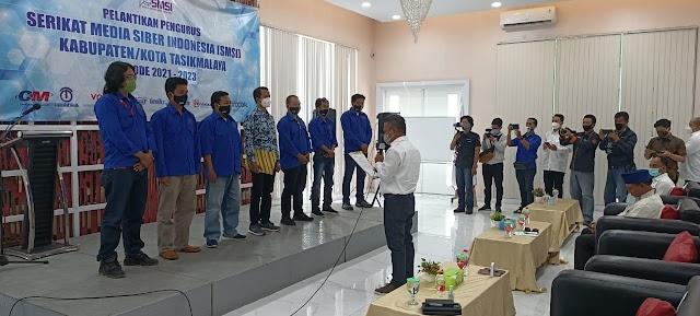 Ketua SMSI Jabar Lantik Kepengurusan SMSI Kab/kota Tasikmalaya Masa Bakti 2021-2023