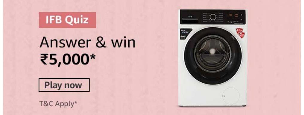 Amazon IFB Washing Machine Quiz Answers