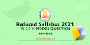 12th All Subject Reduced Syllabus Model Question Paper Collection 2021