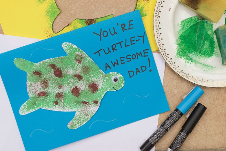 Turtle Father's Day Card Craft for Kids