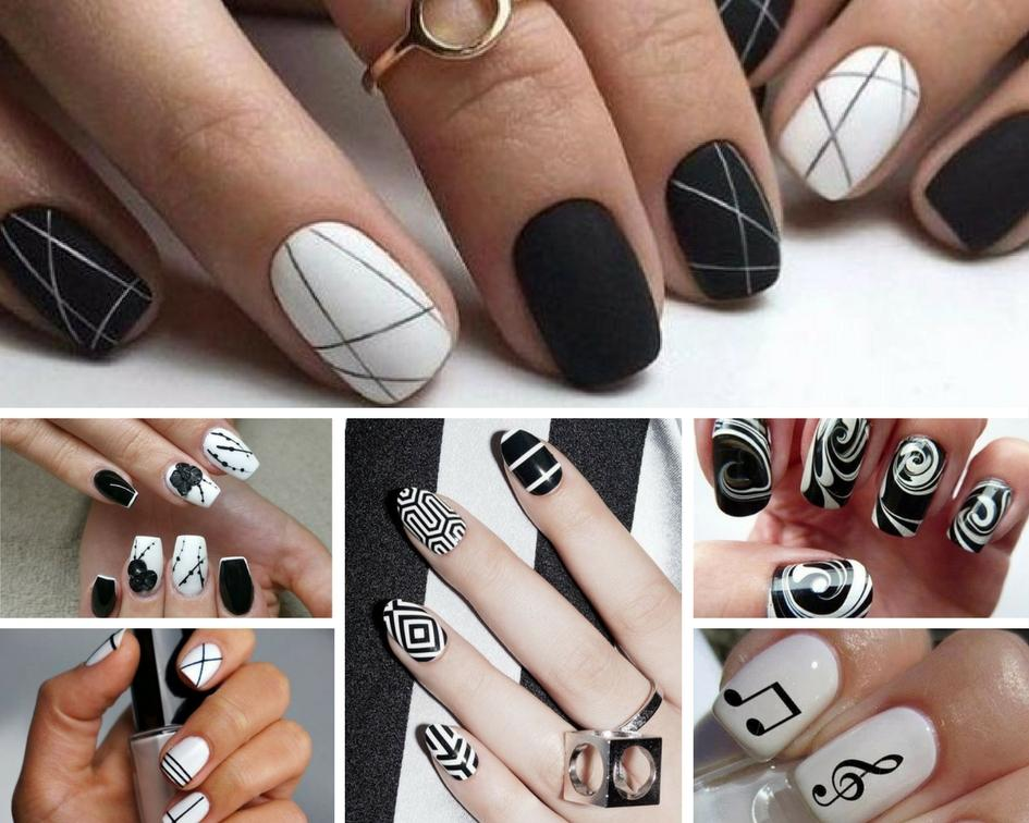 Black And White Nail Designs - Black And White Nail Designs - Cherry Colors - Cosmetics Heaven!