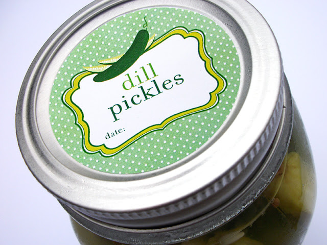 Cute Pickle & Relish Canning Jar Labels
