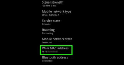 Cara Melihat MAC Address Android