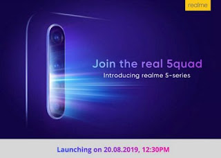 Realme 5 Pro Smartphone will launch on 20th August in India
